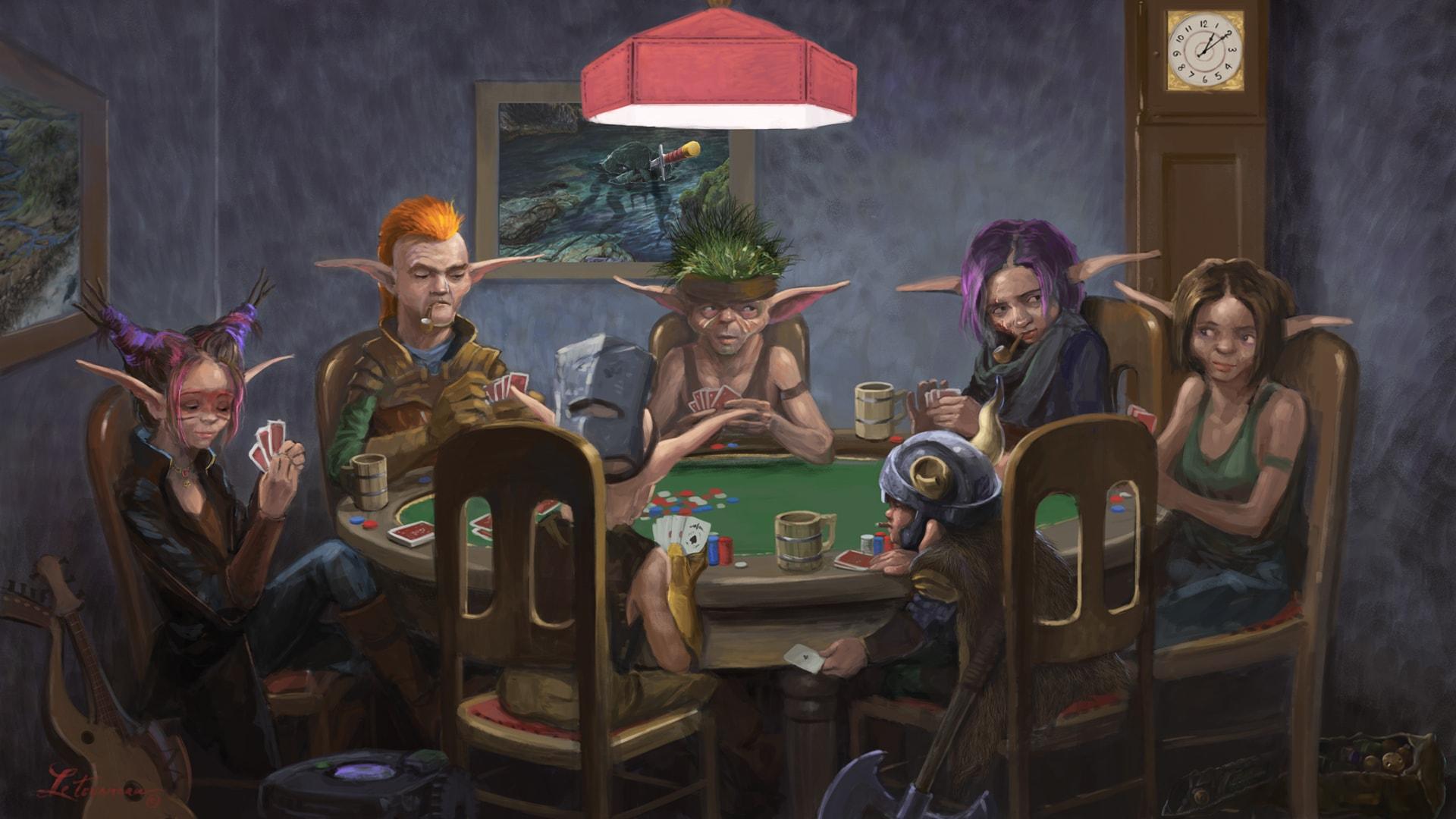Gearlocs playing poker 1920x1080