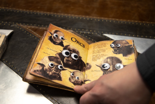 Liberation Logbook with googly eyes